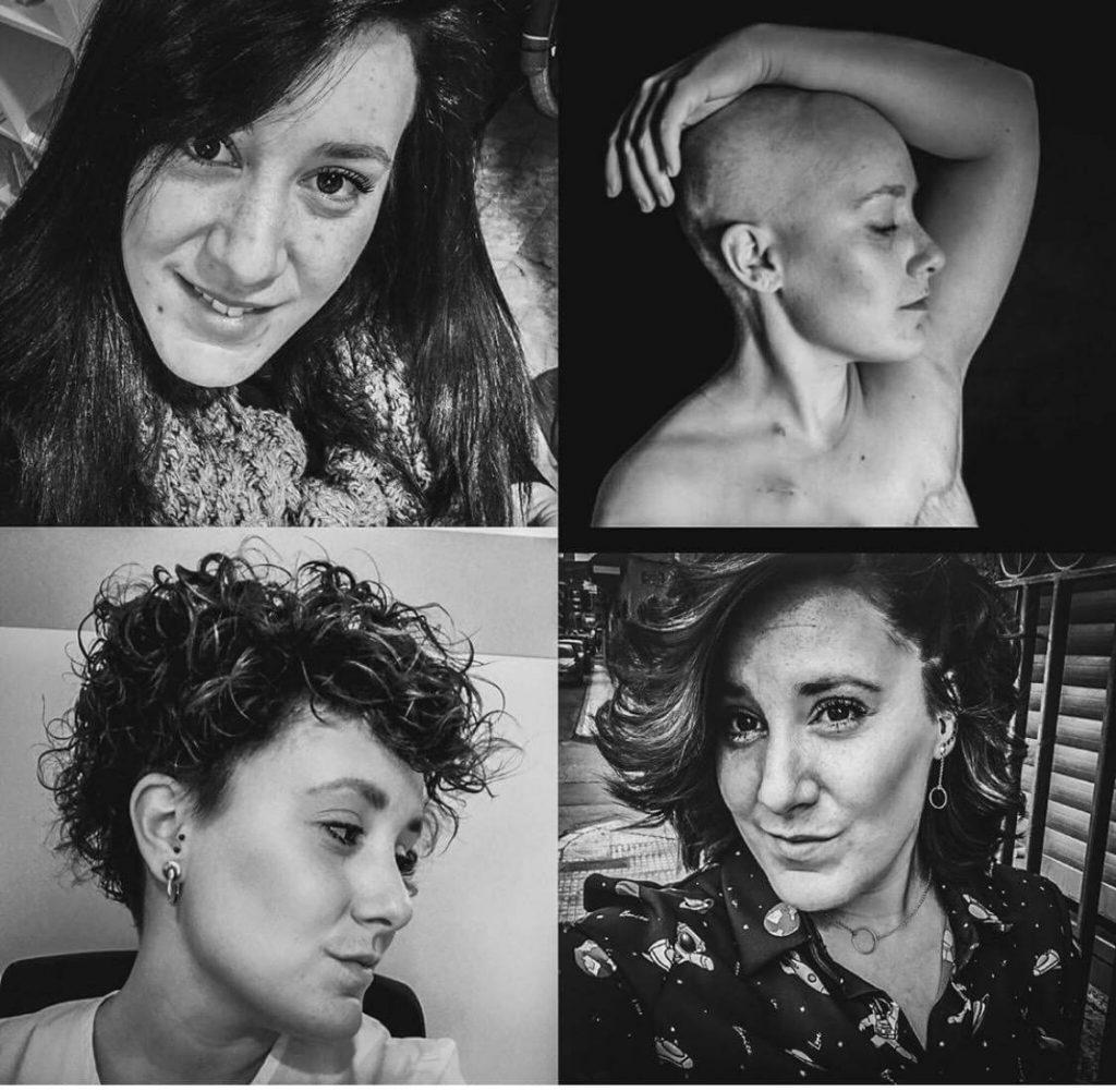 @lidiafotografiarte en todas las fases de su proceso.  Es la creadora del collage más emotivo sobre cáncer de mama.
