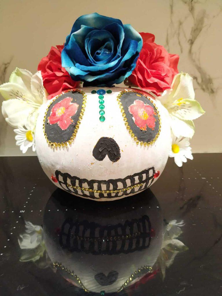 Decoración calabaza catrina mexicana